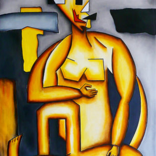 Neo-Cubist Woman