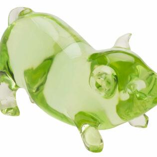 Green Happy Pig