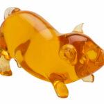 Orange Happy Pig