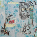 Mediterranean Blue Collage Abstract