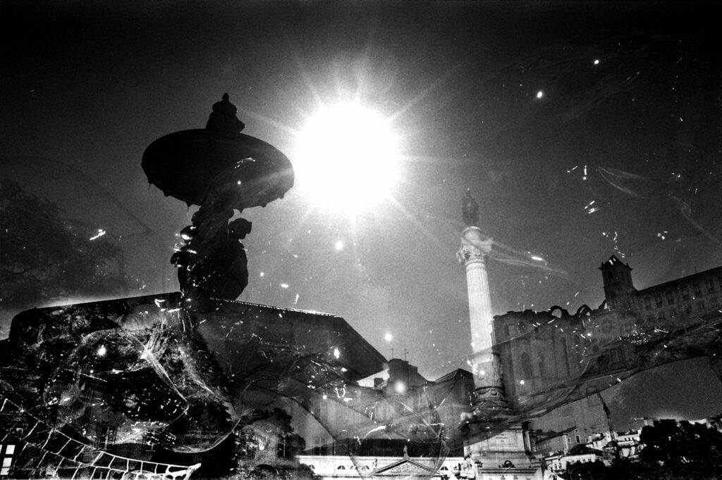 bubble and fountain Lisbon Portugal