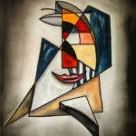 Abstraction Gris Bleu