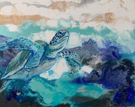 Lone Sea Turtle by Rachel Pierce
