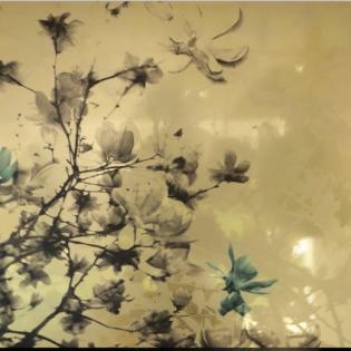 The Fullest Bloom Golden Mirror