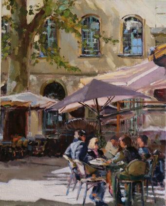 Happy-Hour In Aix en Provence by Teresa Benjamin
