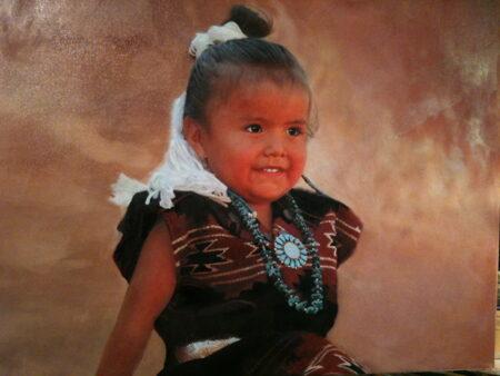 Portrait of Little Miss Sniffles by Lane Baxter