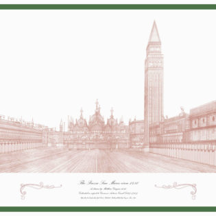 Piazza San Marco, limited edition lithograph