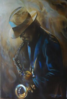 Sax of Blues by John Robbolino