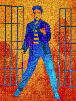 Elvis Presley All Shook Up by Robin Austin
