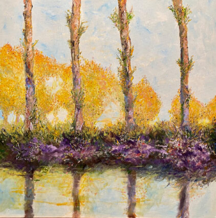 Monet/Seurat - Spring Fling by Larry Aarons